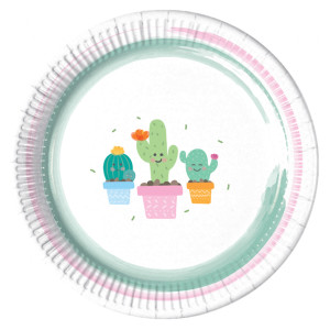 Happy Little Cactus Paper Plates (8)