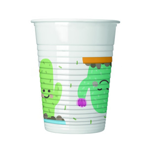 Happy Little Cactus Plastic Cups (8)
