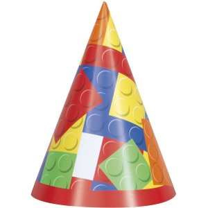 Building Blocks Party Hats (8)