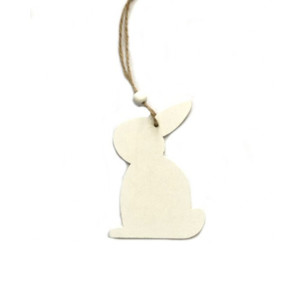White Wooden Hanging Bunny