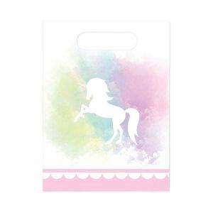 Believe in Unicorns Plastic Party Bags ( 6)