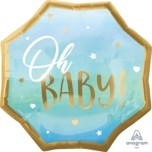 Oh Baby Blue Baby Boy Super Shape Balloon