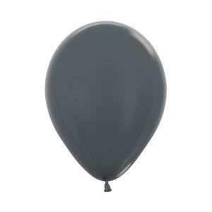 Graphite Pearl Latex Balloons (5)