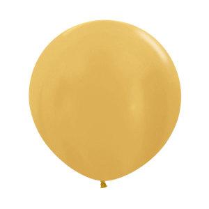 Gold 24 inch latex balloon (60cm)