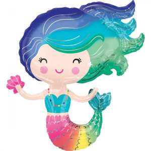 Rainbow Mermaid Super Shape Foil Balloon
