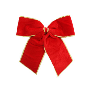 Big Red Felt Bow with Gold Trim