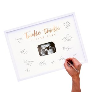Rose Gold Baby Shower Frame Guest Book