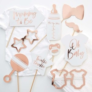 Rose Gold Baby Shower Photo Props