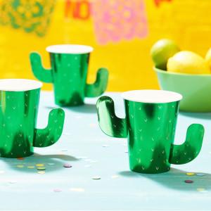 Viva La Fiesta Green Foiled Paper Cups (8)