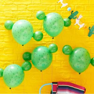Viva La Fiesta Cactus Pom Pom Balloons (5)