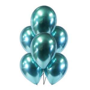 Teal Green Chrome Balloons (5)