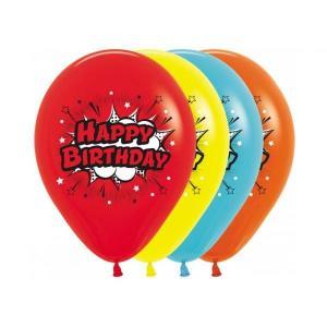 Pop Art Party Latex Balloons (5)