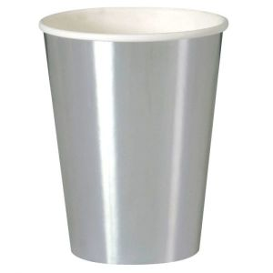 Silver Foil Paper Cups (8)