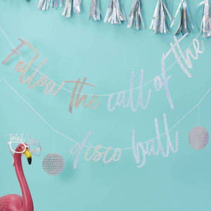 Good Vibes Follow the Call of the Disco Ball Bunting