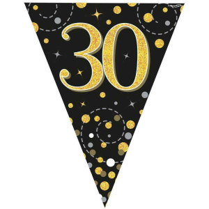 Sparkling Fizz Bunting 30th Birthday