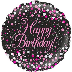 Birthday Confetti Glitter 18 inch Foil Balloon