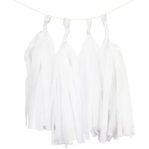 White Tissue Paper Tassel Kit