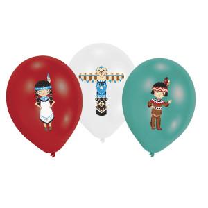 Tepee and Tomahawk Latex Balloons (6)