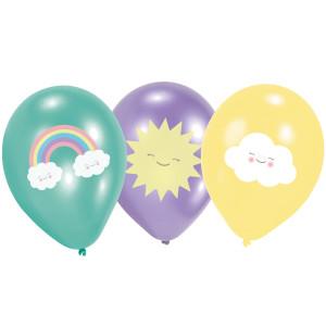 Happy Little Cloud Latex Balloons (6)