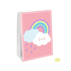Happy Little Cloud Party Bags with Stickers (4)