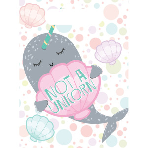 Narwhal Party Plastic Loot Bags (8)