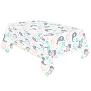 Narwhal Party Plastic Table Cover