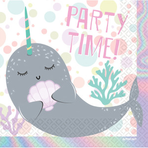 Narwhal Party Napkins (16)