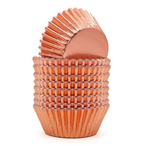 Rose Gold Metallic Cupcake Cases 12cm (100)