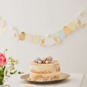Daisy Crazy Gold Foiled Bunny and Eggs Garland