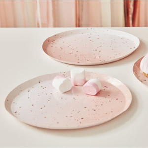Mix It Up Ombre Pink and Rose Paper Plates (8)