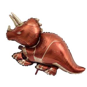 Brown Triceratops Foil Balloon 84 x 42cm