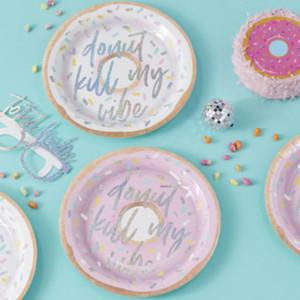 Good Vibes Donut Kill My Vibe Paper Plates