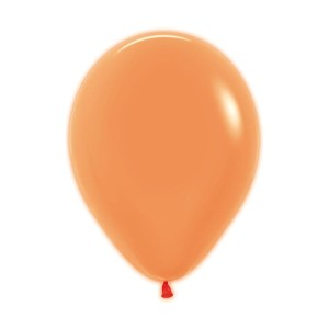 Neon Orange Latex Balloons (5)