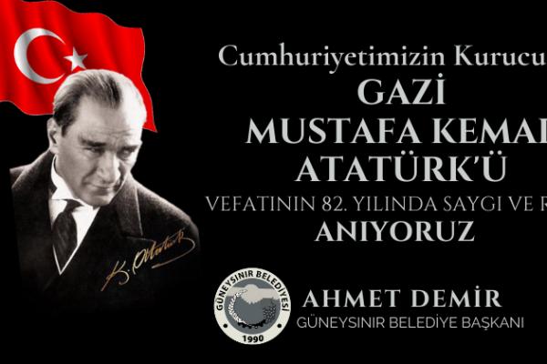 Belediye Başkanı Ahmet Demir'in 10 Kasım Mesajı