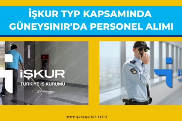 İŞKUR TYP KAPSAMINDA GÜNEYSINIR'DA PERSONEL ALIMI