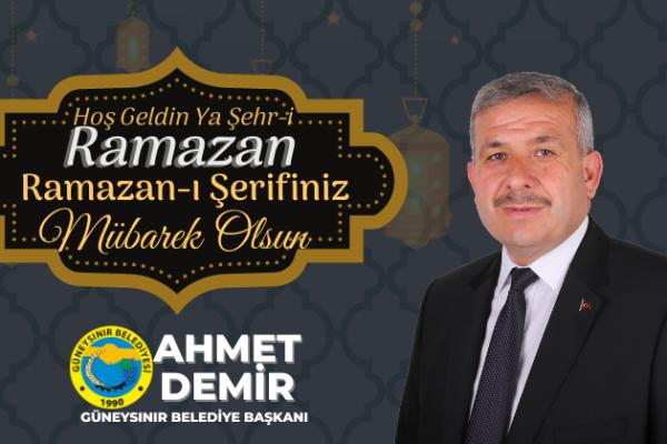 Başkan Demir'den Ramazan Mesajı