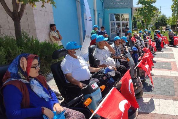 Güneysınır'da engelli vatandaşlarımıza akülü araç dağıtımı