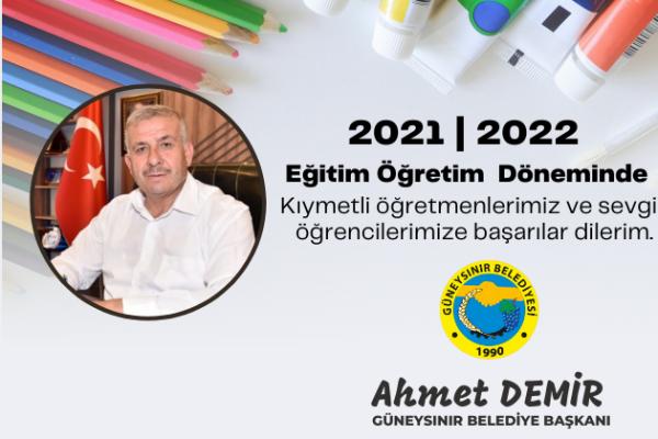 Başkan Demir'den Yeni Eğitim-Öğretim Yılı Mesajı