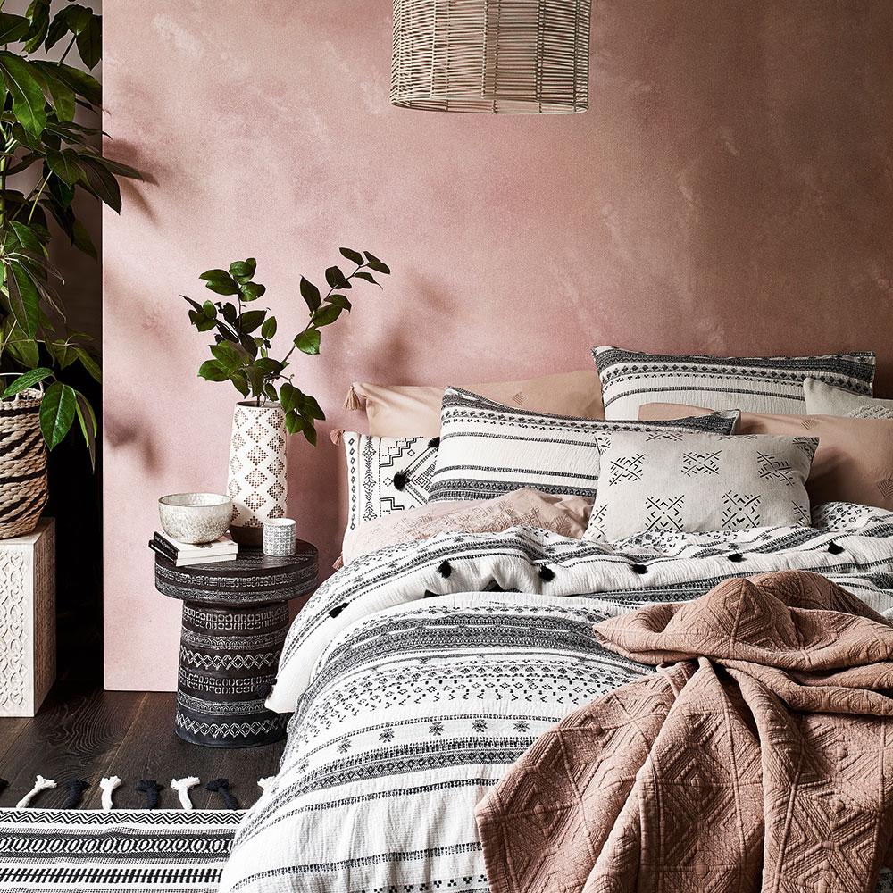 Cerise pink bedroom