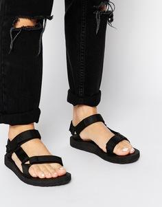Сандалии с широкими ремешками adidas Originals Adilette - Черный