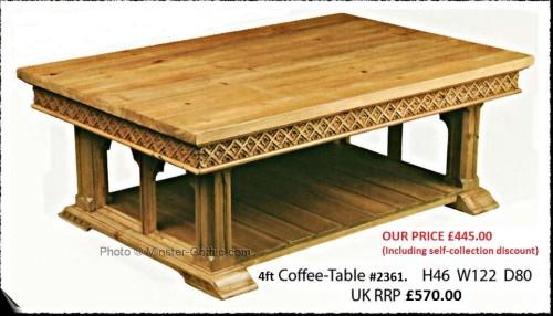 Swell Gothic Style 4Ft Coffee Table 2361R Interior Design Ideas Oteneahmetsinanyavuzinfo