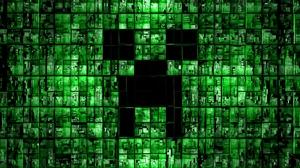 Превью обои minecraft, фон, зелёный