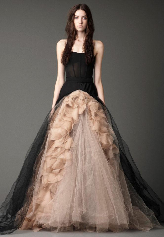 Vera wang black bridal dress