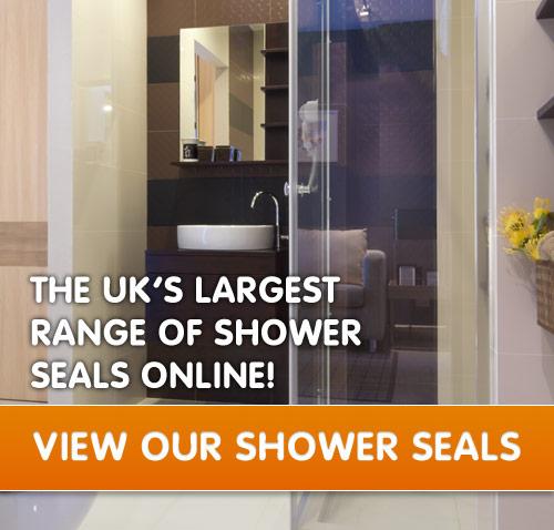 Shower door bottom seal stores