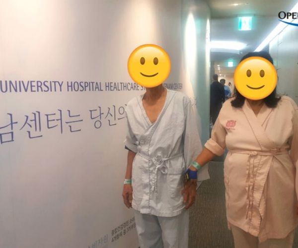 First medical checkup in Korea with my wife