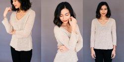 Связать спицами реглан сверху пуловер женский