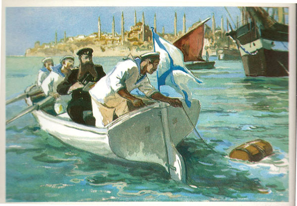 Открытка из комплекта «Русские путешественники и мореплаватели». С.О.Макаров
