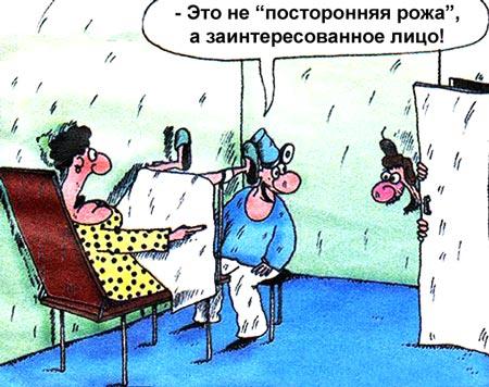 Мужчина гинеколог осматривает девушку