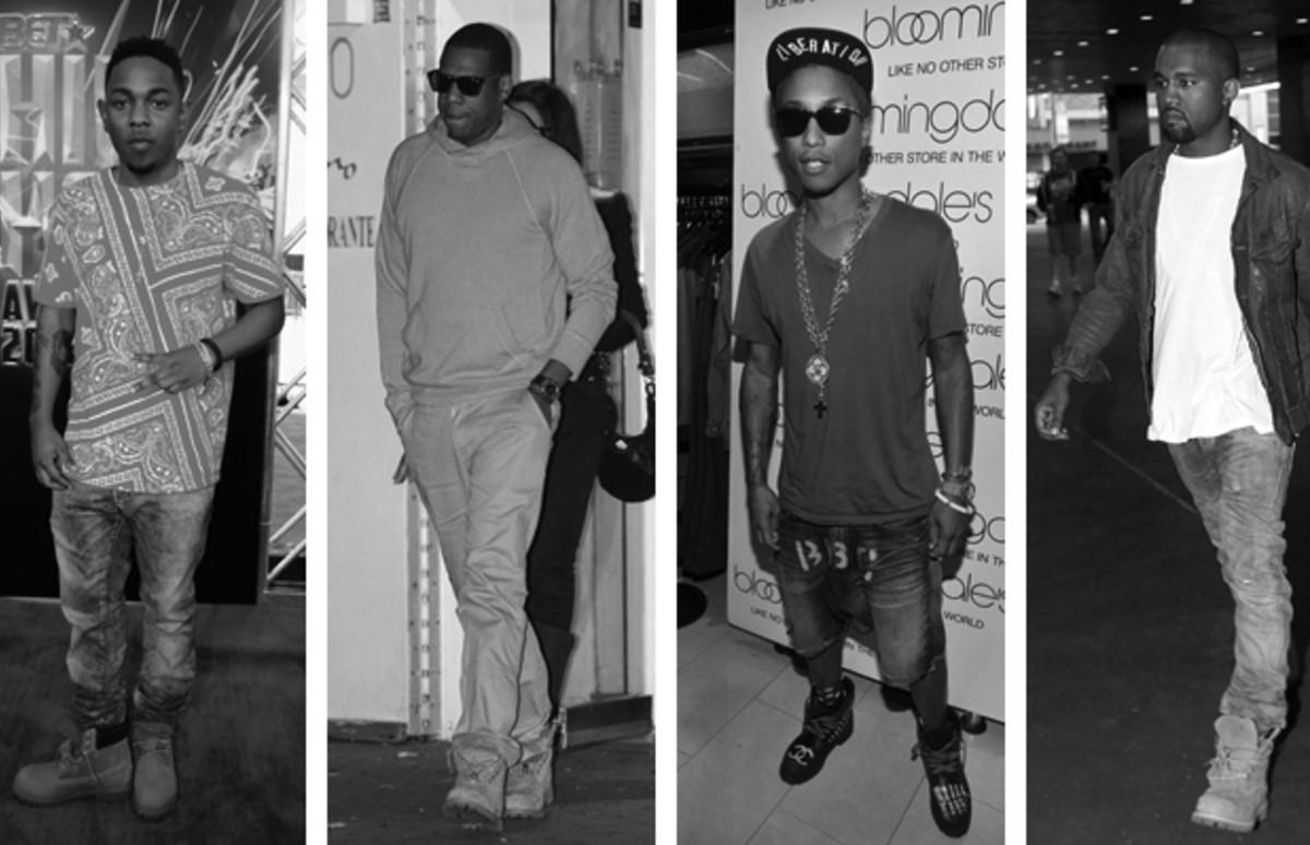 Celebrities in black boots