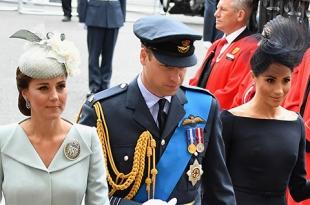 Кейт Миддлтон, Меган Маркл, принц Уильям и принц Гарри на службе в Вестминстерском аббатстве